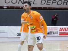 Alegría ante un gol del Aspil Jumpers Ribera NavarrFS