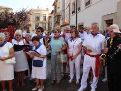 Los auroros en la procesión de Santa Eufemia en 2019