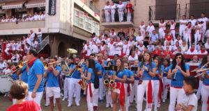 Banda de Música de Villafranca durante las fiestas patronales en honor a Santa Eufemia