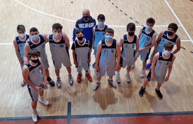 Los chicos del cadete masculino del Baloncesto Arenas