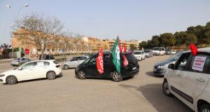 Caravana de coches para reivindicar un convenio en el sector de la limpieza