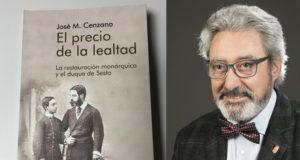 Chema Cenzano y la portada de su último libro