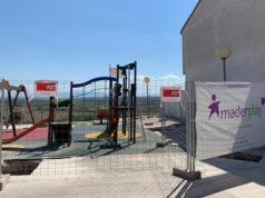 Imagen de las obras en el Parque infantil Francisco Sesma de Cadreita