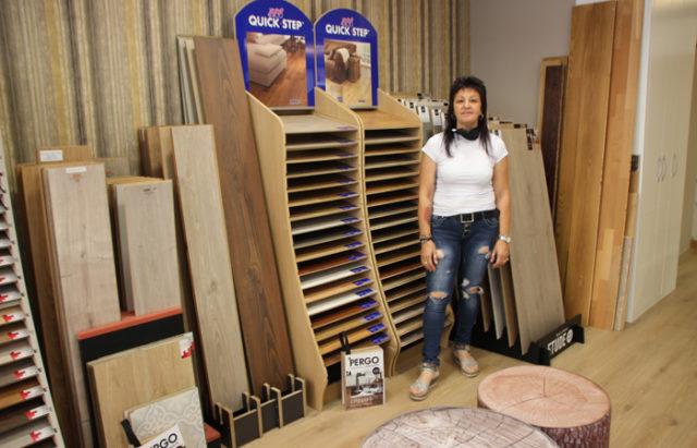 Anabel García, en la nueva tienda de Decohogar en Tudela