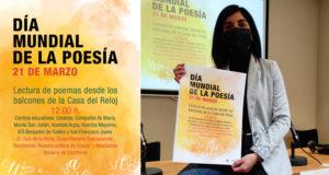 La Concejala de Cultura, Merche Añón, en la presentación del Día Mundial de la Poesía