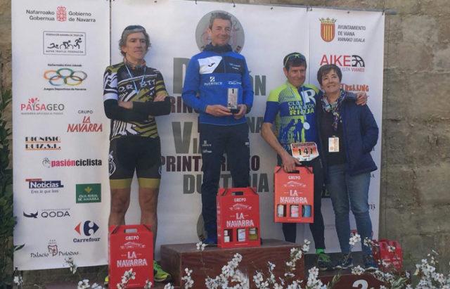 Agustín Salvatierra consiguio el 1° puesto en categoria veterano 3 en el Duatlón de Viana