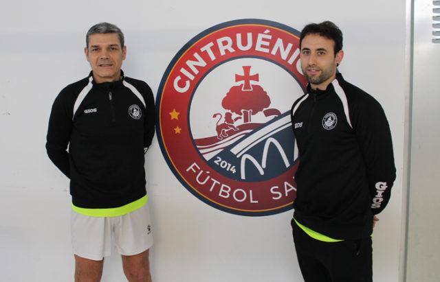 Jose Ignacio Pitillas y David Equisoain entrenadores del Cintruénigo FS