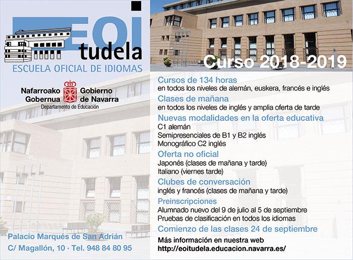 La Escuela De Idiomas De Tudela Oferta 1 200 Plazas Para El Nuevo Curso La Voz
