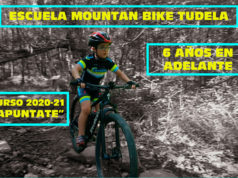 Cartel de la Escuela Mountain Bike de Tudela