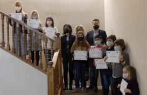 Premiados de los concursos literarios de categorías infantil y juvenil y de marcapáginas en la Semana Literaria de Tudela