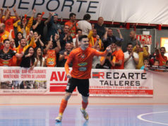 Ferran Plana, jugador del Aspil Jumpers Ribera navarra de fútbol sala