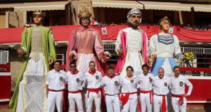 La comparsa de gigantes de Villafranca en 2019