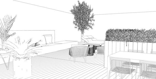 El boceto de uno de los proyectos de lapuente tomas y asociados
