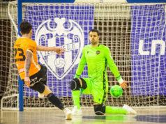 Uno de los goles del Aspil Jumpers Ribera Navarra FS