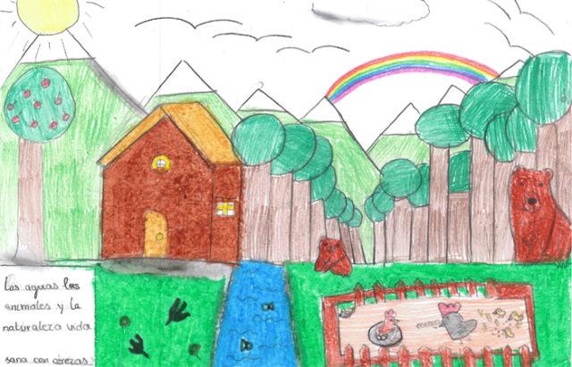 Dibujo de Leyre Pejenaute, de Cadreita, una de las ganadoras del del IX Concurso