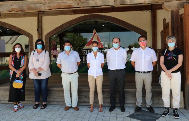 María Chivite, el consejero Ayerdi, y otras autoridades han visitado Sendaviva