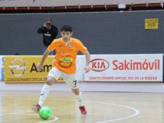 Nil Closas, jugador del Aspil-Jumpers Ribera Navarra FS