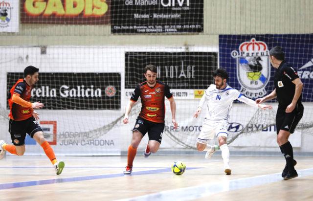El Aspil Jumpers Ribera Navarra de Fútbol Sala se impone al O'parrulo de Ferrol por 6 goles a 1
