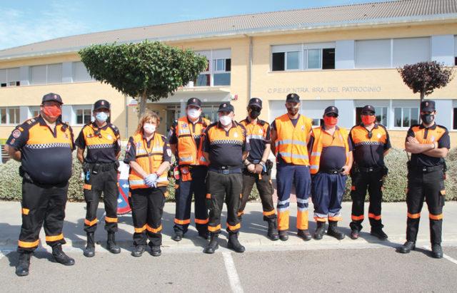 Miembros de Protección Civil desplazados a Milagro con motivo de la visita real