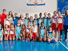 Las jugadoras del preinfantil femenino de la SDR Arenas de Baloncesto
