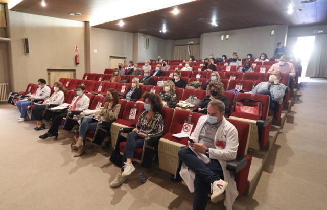 Presentación del Proyecto de Atención Integrada Social y Sanitaria, en el salón de actos del Hospital de Tudela