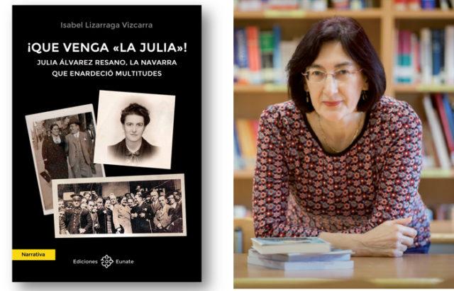Imagen de la cubierta del libro sobre Julia Álvarez, y su autora, Isabel Lizarraga Vizcarra