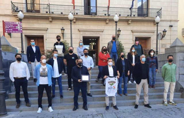 Reconocimiento del Ayuntamiento de Tudela a la gran temporada del CD Tudelano