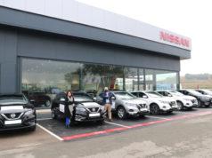 Marta Aramburu y Jorge Gallego, de Nissan Unsain Motor, en Fontellas