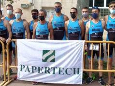 Participantes del Arenas Triatlón en el XX Reto del Ebro