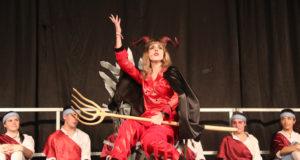 El Diablo en la representación del paloteado de 2019